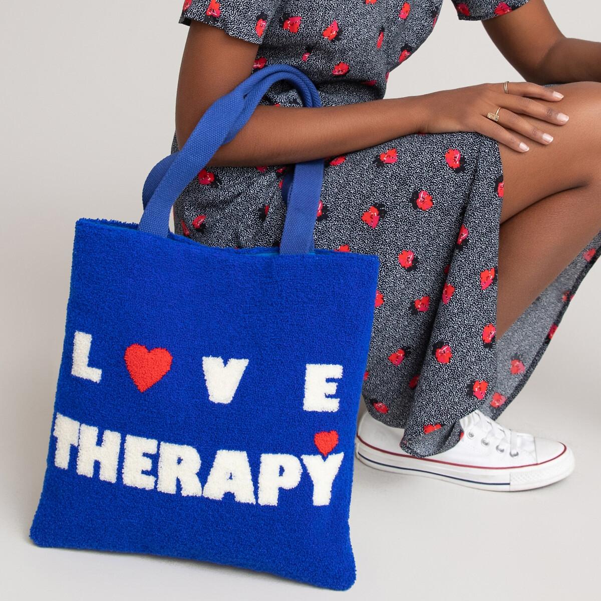 Фото - Сумка LaRedoute Пушистая единый размер синий сумка шоппер laredoute из льна с блесками единый размер синий