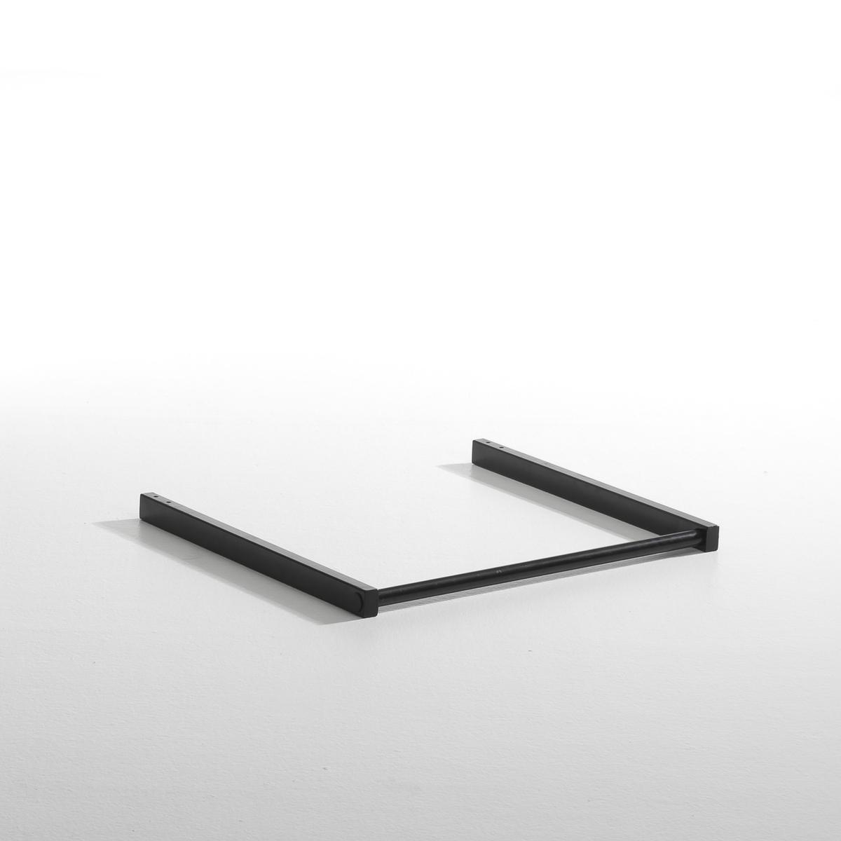 Карниз с занавеской Kyriel для гардеробаМеталлический карниз, покрытый эпоксидной краской, с занавеской для гардероба Kyriel.Карниз с занавеской : диаметр 2,5 см. 2 длины.117 x 60 x 4 см диаметр 2,5 см67 x 60 x 4 см диаметр 2,5 смКарниз с занавеской для крепления на стойки, имеющиеся в продаже на нашем сайте.Мебель для гардероба Kyriel - это эстетичная и практичная система, модулируемая при желании, созданная для любых пространств и стилей.<br><br>Цвет: черный