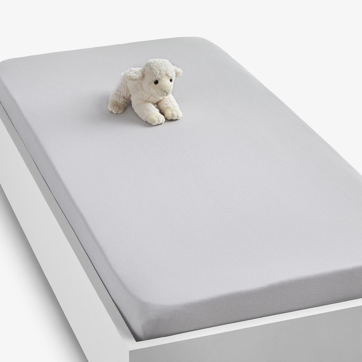 Простыня LaRedoute Натяжная из джерси 100 хлопок Scnario 60 x 120 см серый