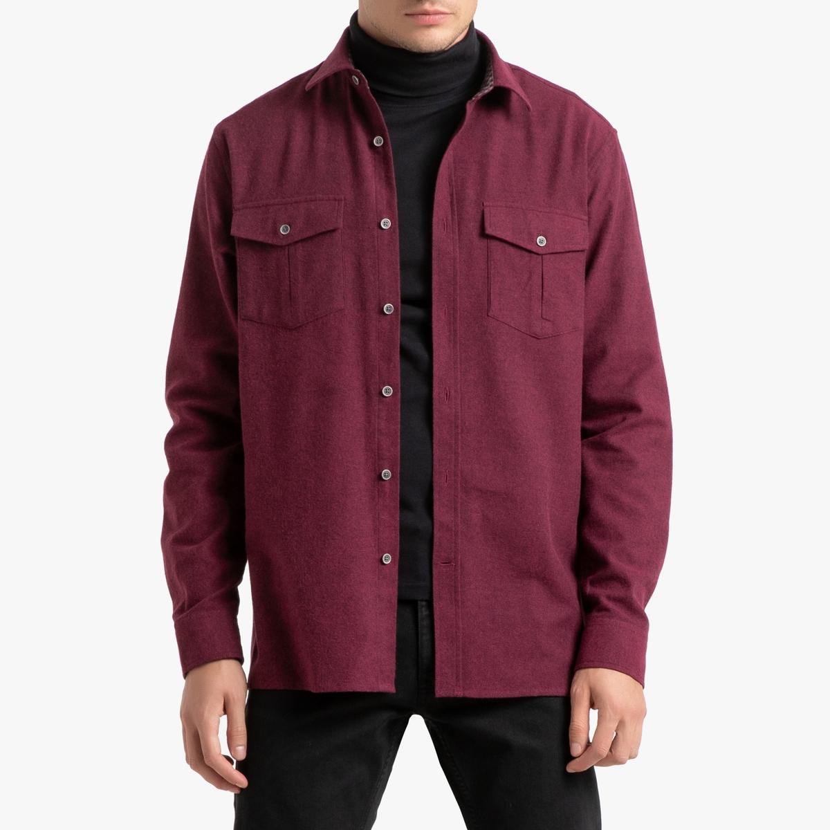 Прямая La Redoute Фланелевая рубашка 45/46 красный