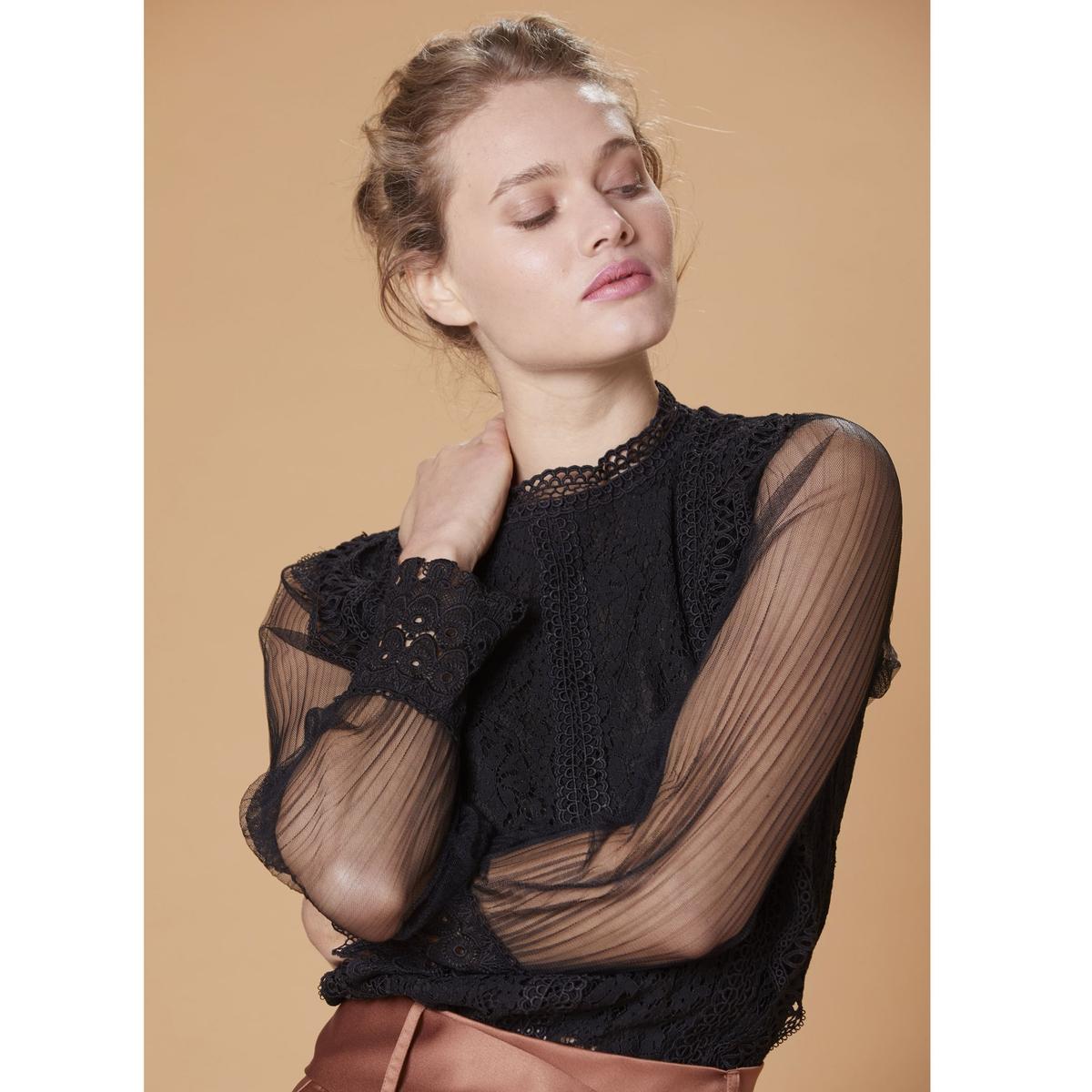 Блузка La Redoute С воротником-стойкой и вышивкой Cahors S черный angy skay y de pronto apareciste tú