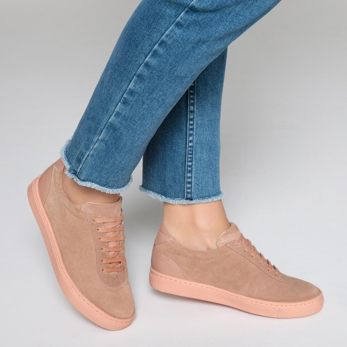 Zapatillas deportivas monocromas de piel