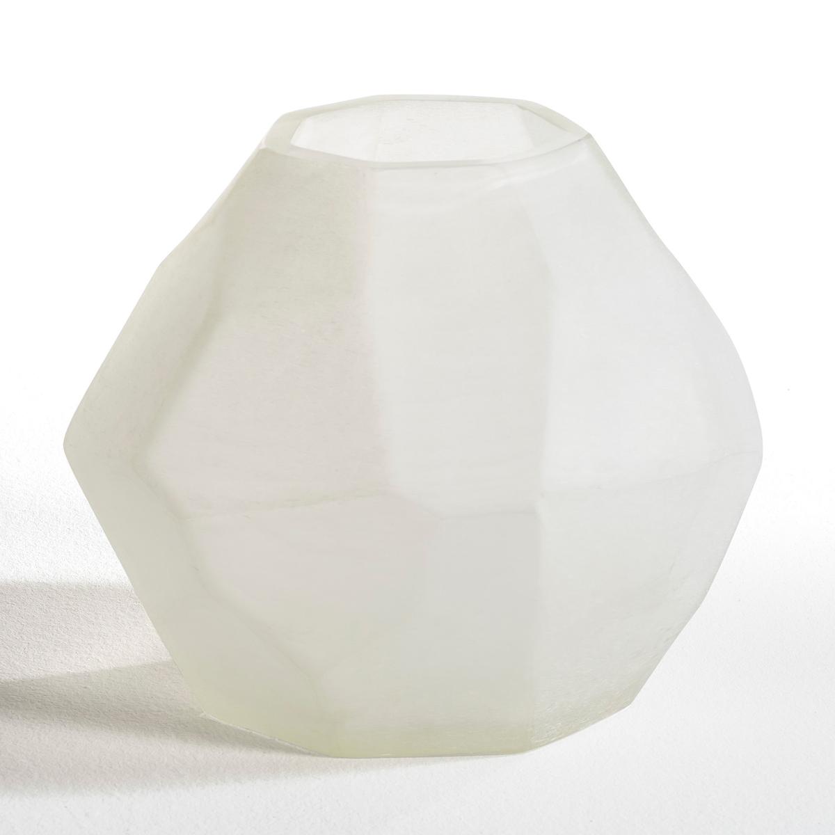 Ваза TelaГраненая ваза Tela.Характеристики: :- Из белого стекла с пескоструйной обработкой.Размеры :- Высота.24,5 x Диаметр.28,5 см<br><br>Цвет: песочно-белый