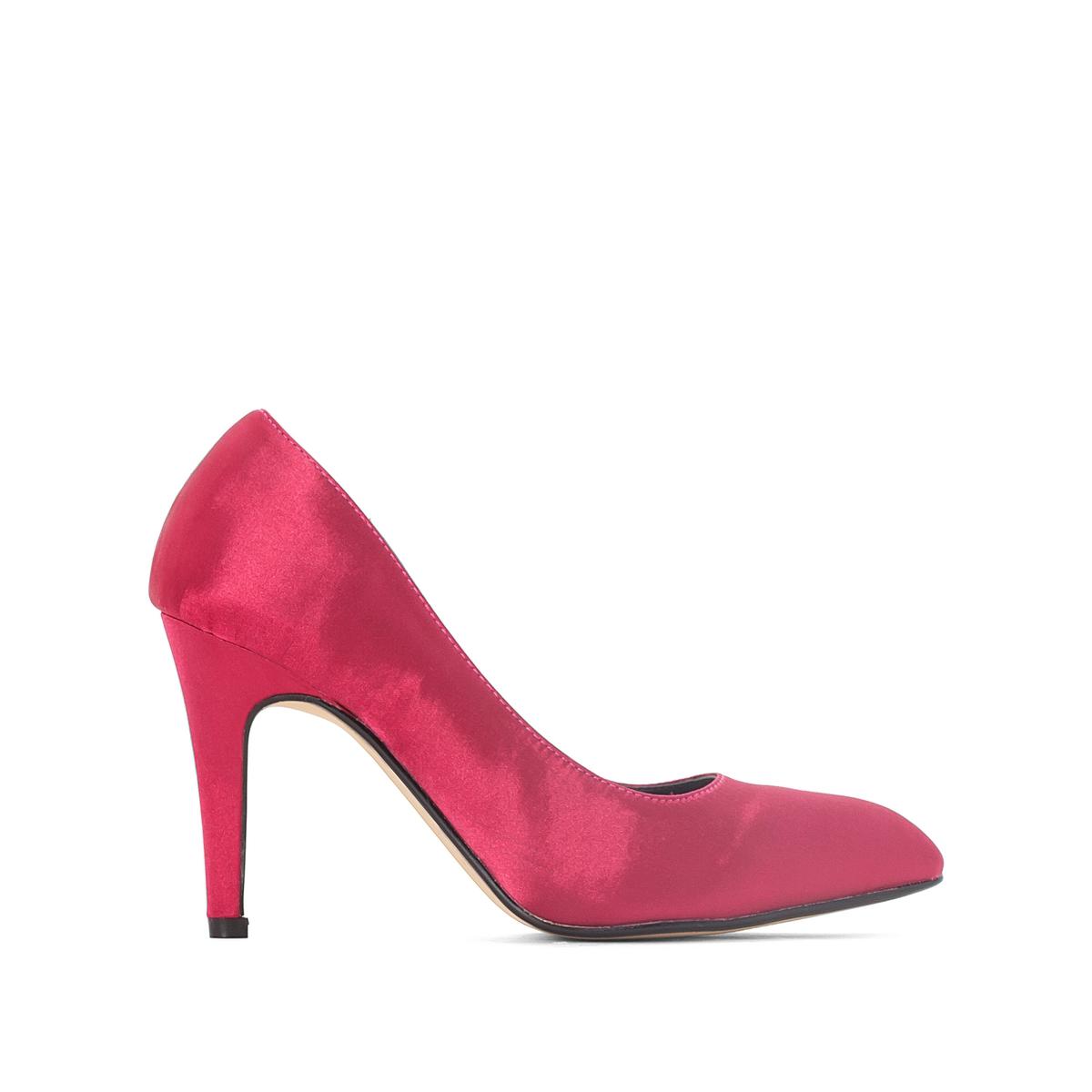 Туфли сатиновыеДетали •  Каблук-шпилька •  Высота каблука : 7 см •  Застежка : без застежки •  Круглый мысок •  Гладкая отделкаСостав и уход • Верх 100% хлопок •  Подкладка 100% синтетический материал<br><br>Цвет: синий,фуксия<br>Размер: 40.40