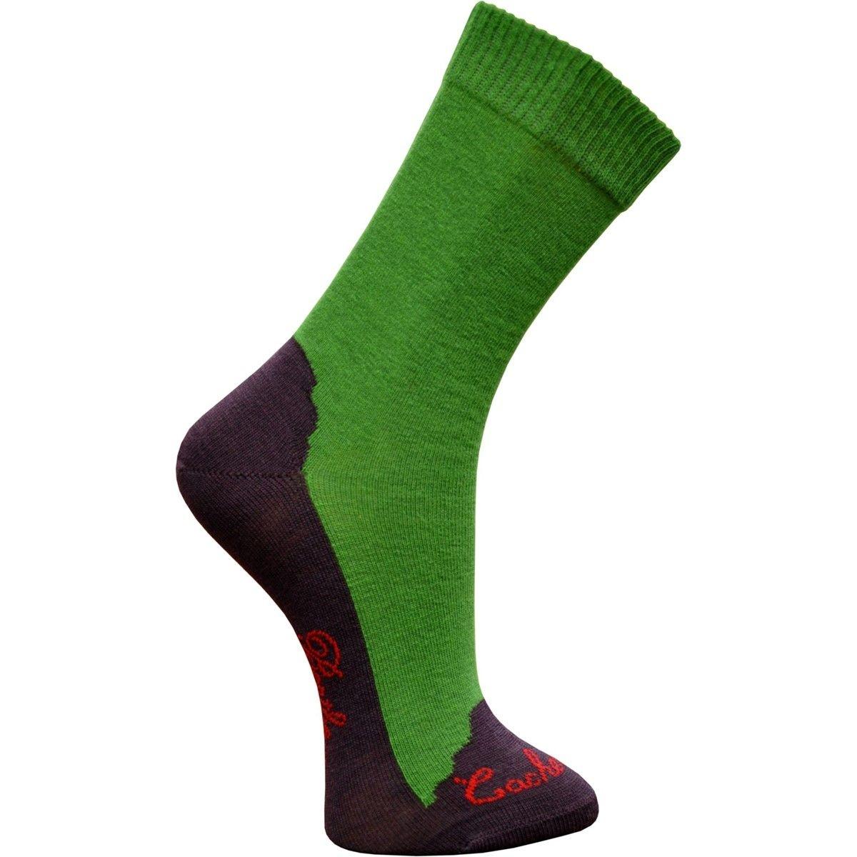 Chaussettes cachemire vert