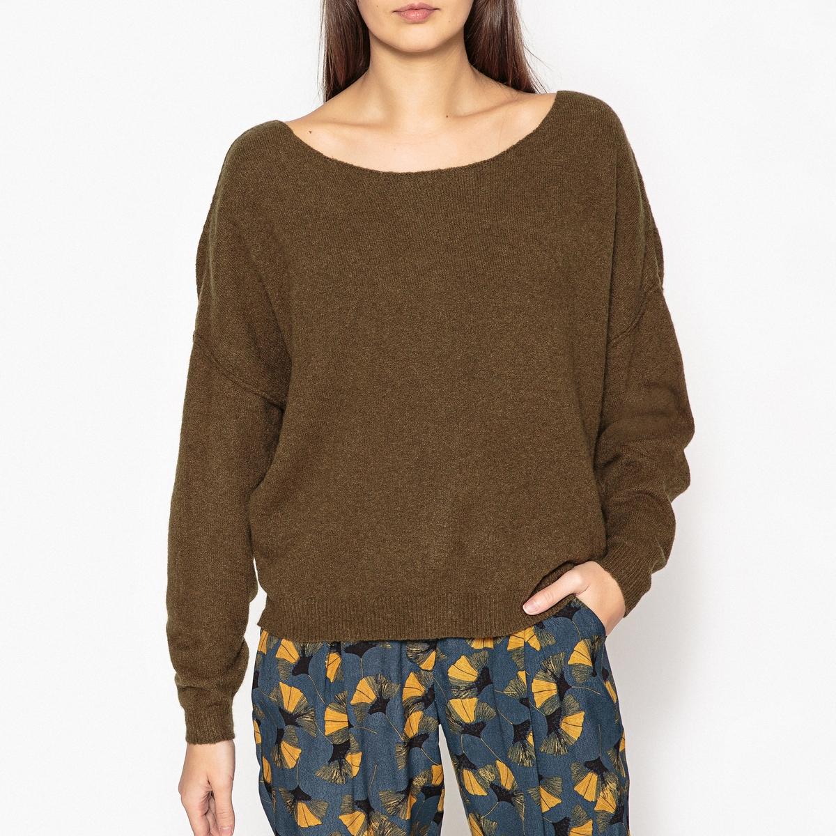 Пуловер с круглым вырезом из тонкого трикотажа DAM