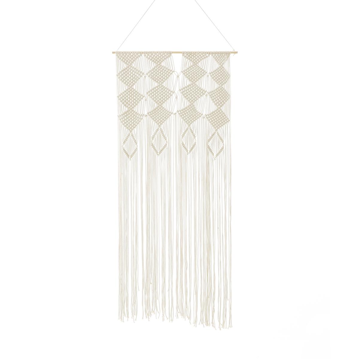 Штора плетения макраме, 100% хлопок, ADONIШтора плетения макраме, 100% хлопок Adoni. Модная штора Adoni плетения макраме украсит Ваше окно или послужит стенной декорацией.Характеристики шторы макраме Adoni :Плетение макраме, 100% хлопок.Деревянная гардина и завязки.    Знак Oeko-Tex® гарантирует, что товары прошли проверку и были изготовлены без применения вредных для здоровья человека веществ.Размеры шторы плетения макраме Adoni : Выс. 200 x Шир. 90 смВсю коллекцию штор и текстиля для интерьера Вы найдете на laredoute.ru .<br><br>Цвет: экрю