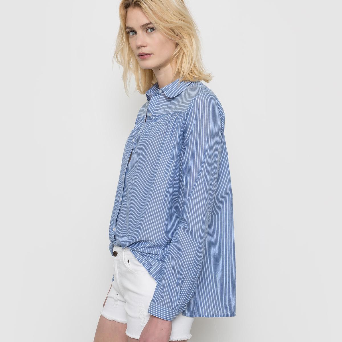 Рубашка в полоску, 100% хлопка