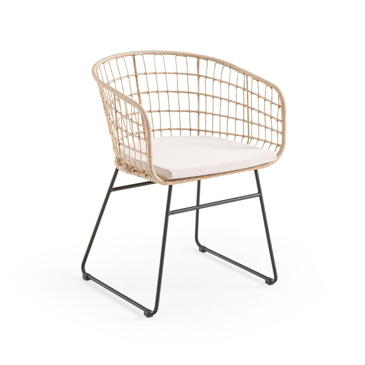 Кресло LaRedoute Садовое из плетеного пластика Rubis единый размер бежевый