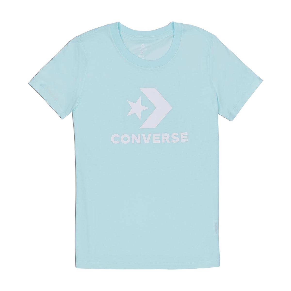 Imagen principal de producto de Camiseta con cuello redondo estampado delante, 100% algodón - Converse