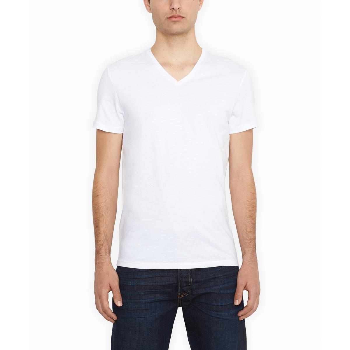 Confezione da 2 t-shirt scollo a V taglio slim