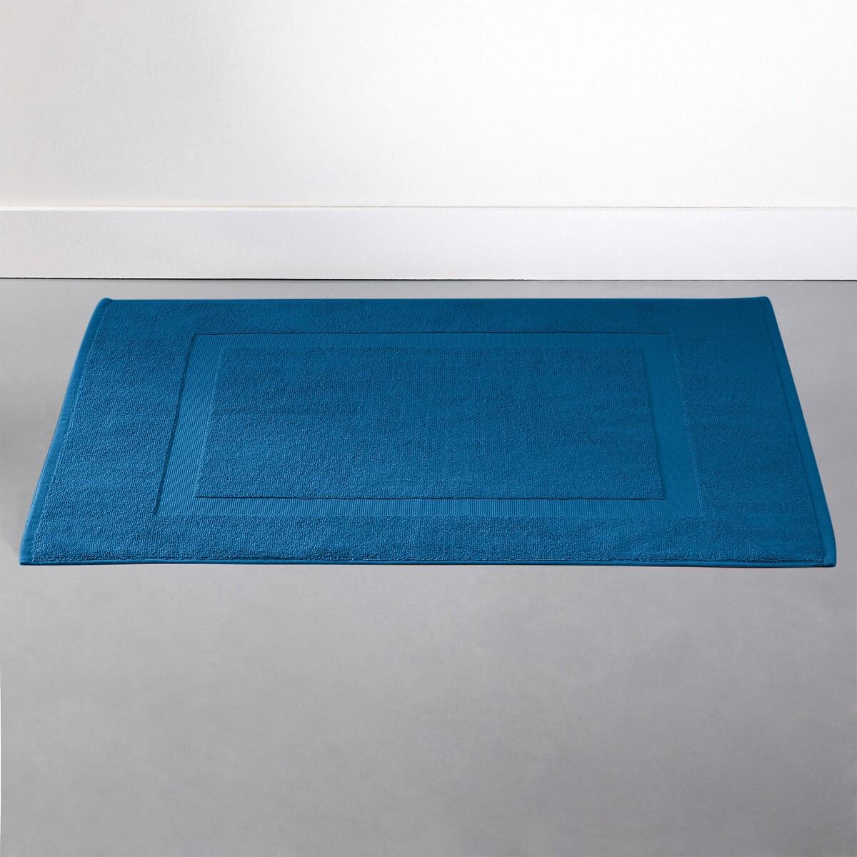Коврик LaRedoute Для ванной однотонный из махровой ткани 700 гм Scenario 40 x 50 см синий 5 однотонных laredoute банных принадлежностей из махровой ткани 500 гм scenario единый размер синий