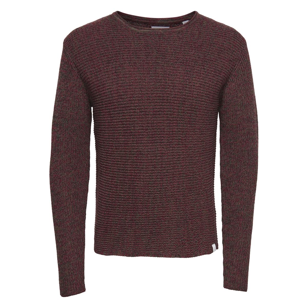 Пуловер La Redoute С круглым вырезом из тонкого трикотажа XXL красный пуловер la redoute с круглым вырезом из тонкого трикотажа l красный