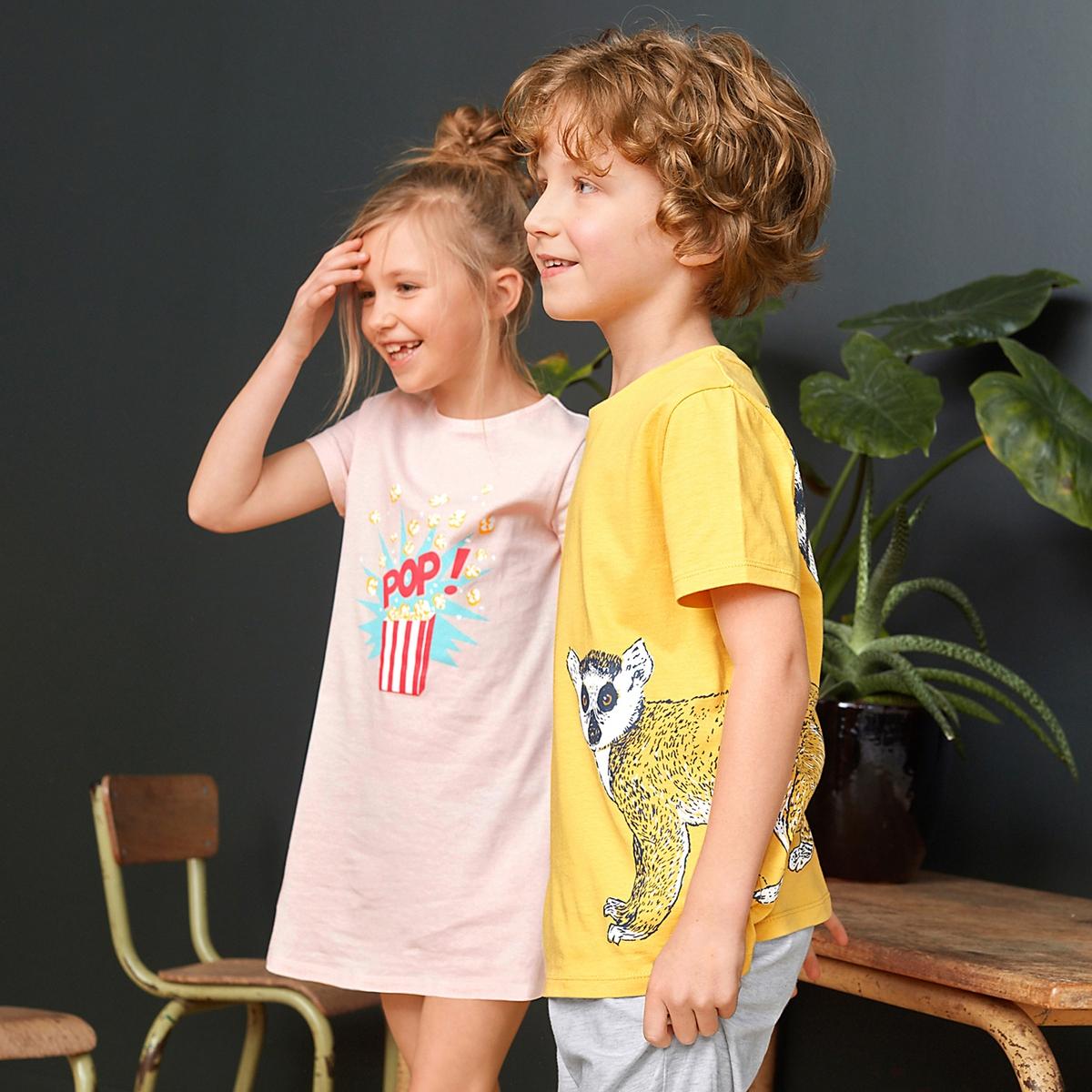 Пижама с шортами с рисунком лемур 3-12 лет пижама с шортами с рисунком 2 12 лет