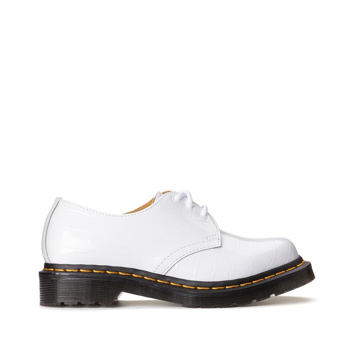 Ботинки-дерби LaRedoute Из лакированной кожи 1461 Croc Emboss 41 белый ботинки дерби из кожи teadale maira