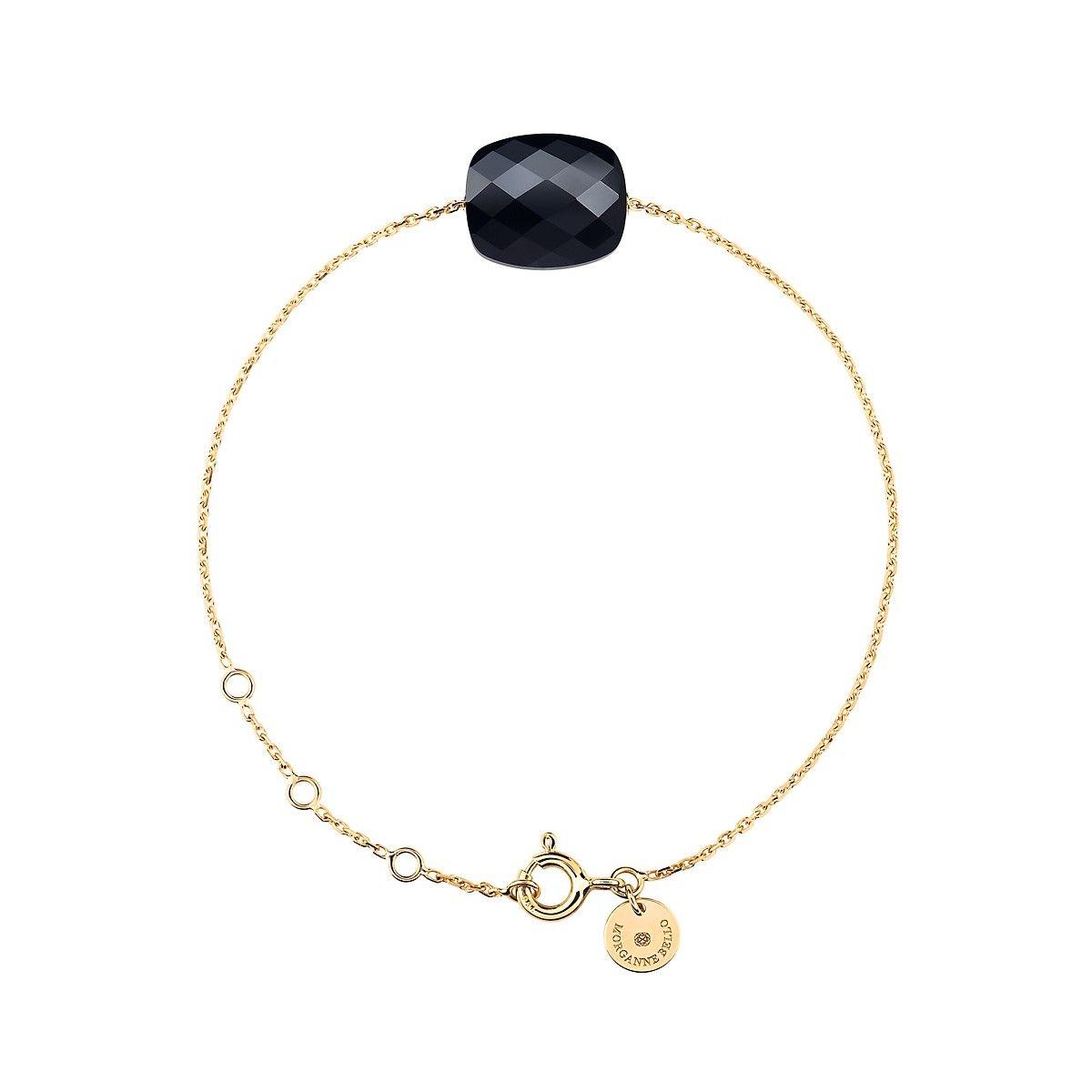 Bracelet Or Jaune Coussin Onyx