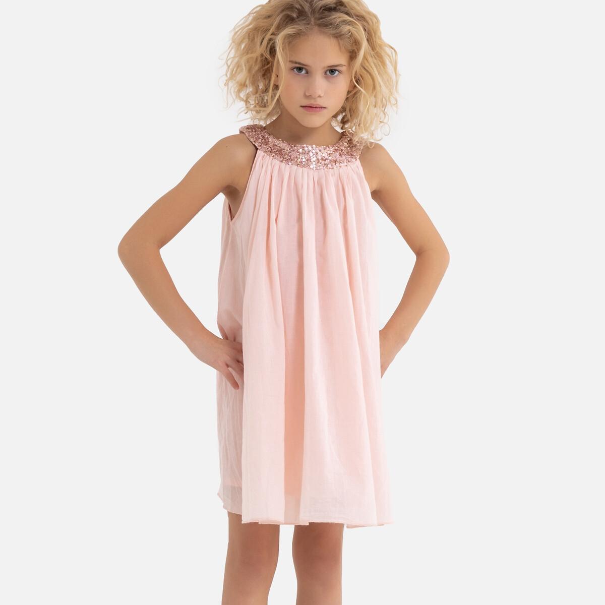 Платье La Redoute С блестками на вырезе 3-12 лет 10 лет - 138 см розовый