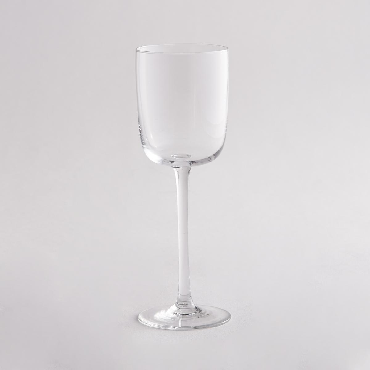Комплект из 4 бокалов для белого винаКомплект из 4 бокалов для белого вина La redoute Int?rieurs для изысканного стола при любых обстоятельствах.Характеристики 4 бокалов для белого вина:- Бокалы на ножке из стекла.- Размеры: 7 x 7 см.- Высота: 21 см.- Подходят для мытья в посудомоечной машине.- В комплекте 4 бокала.<br><br>Цвет: прозрачный<br>Размер: единый размер