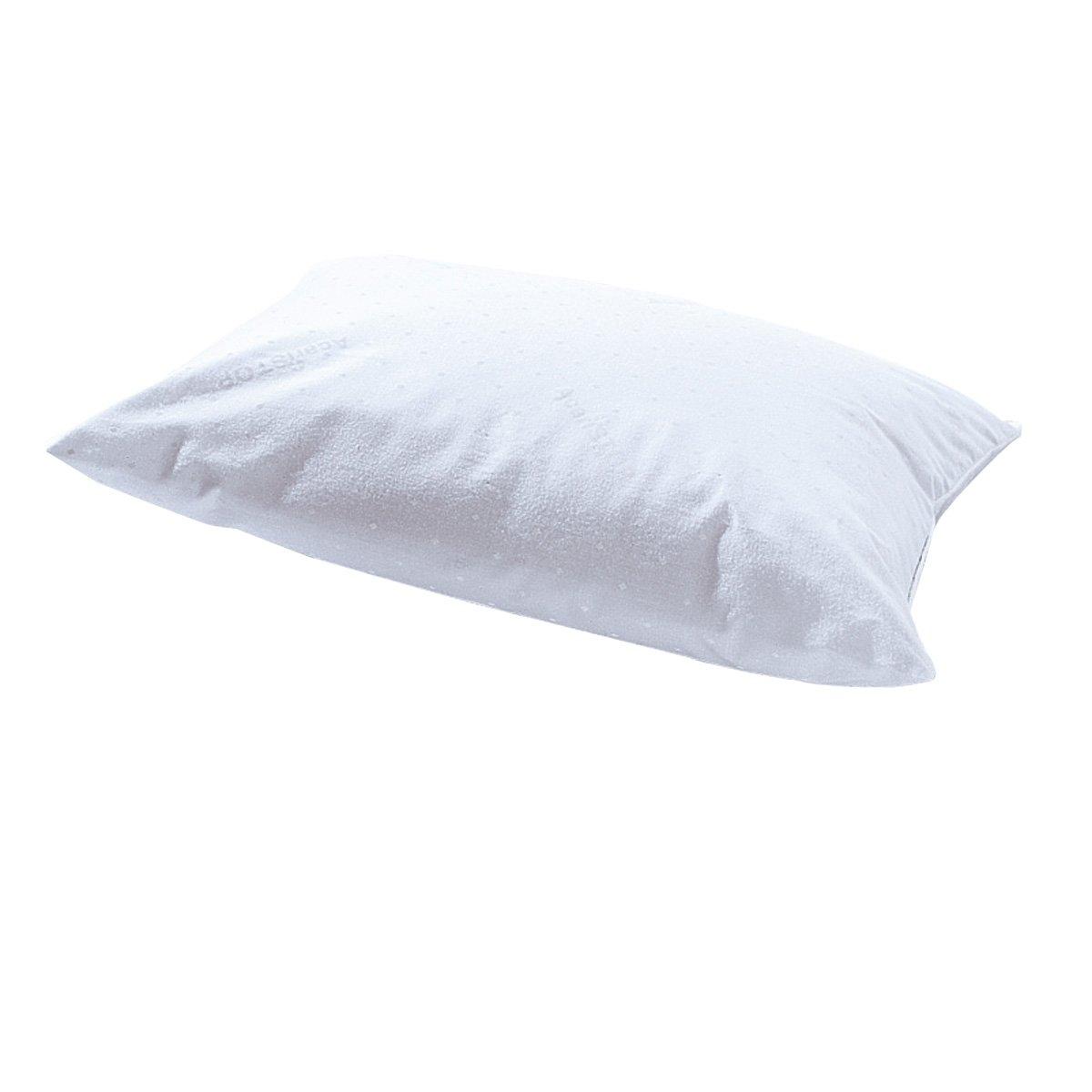 Подушка детская с обработкойГигиена и комфорт! Детская подушка с обработкой против клещей, которая прослужит долгое время, а также против пятен (до 15 стирок). Чехол из 100% хлопка. Стирка при 60°. Наполнитель из полиэстера. 2 размера: 35 х 45 см или 40 х 60 см.<br><br>Цвет: белый
