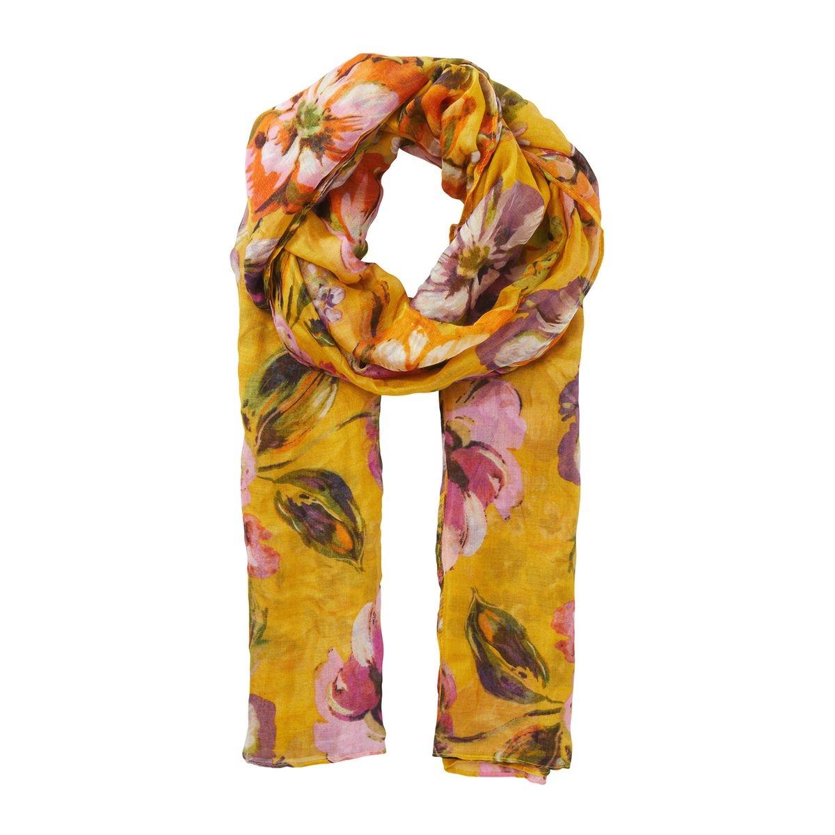 Léger foulard à imprimé floral