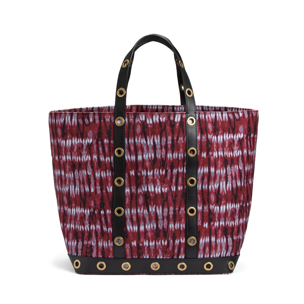 Сумка-шоппер La Redoute Среднего размера из ткани с рисунком и люверсами единый размер красный