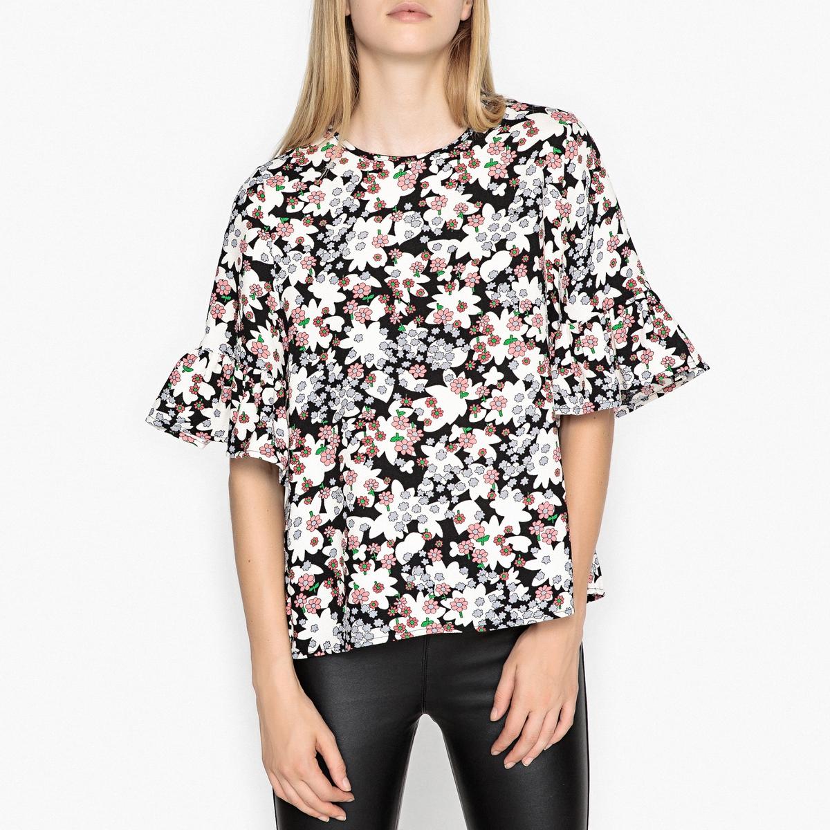 Блуза с рукавами 3/4 ROCKNROLL msgm топ с крупными воланами