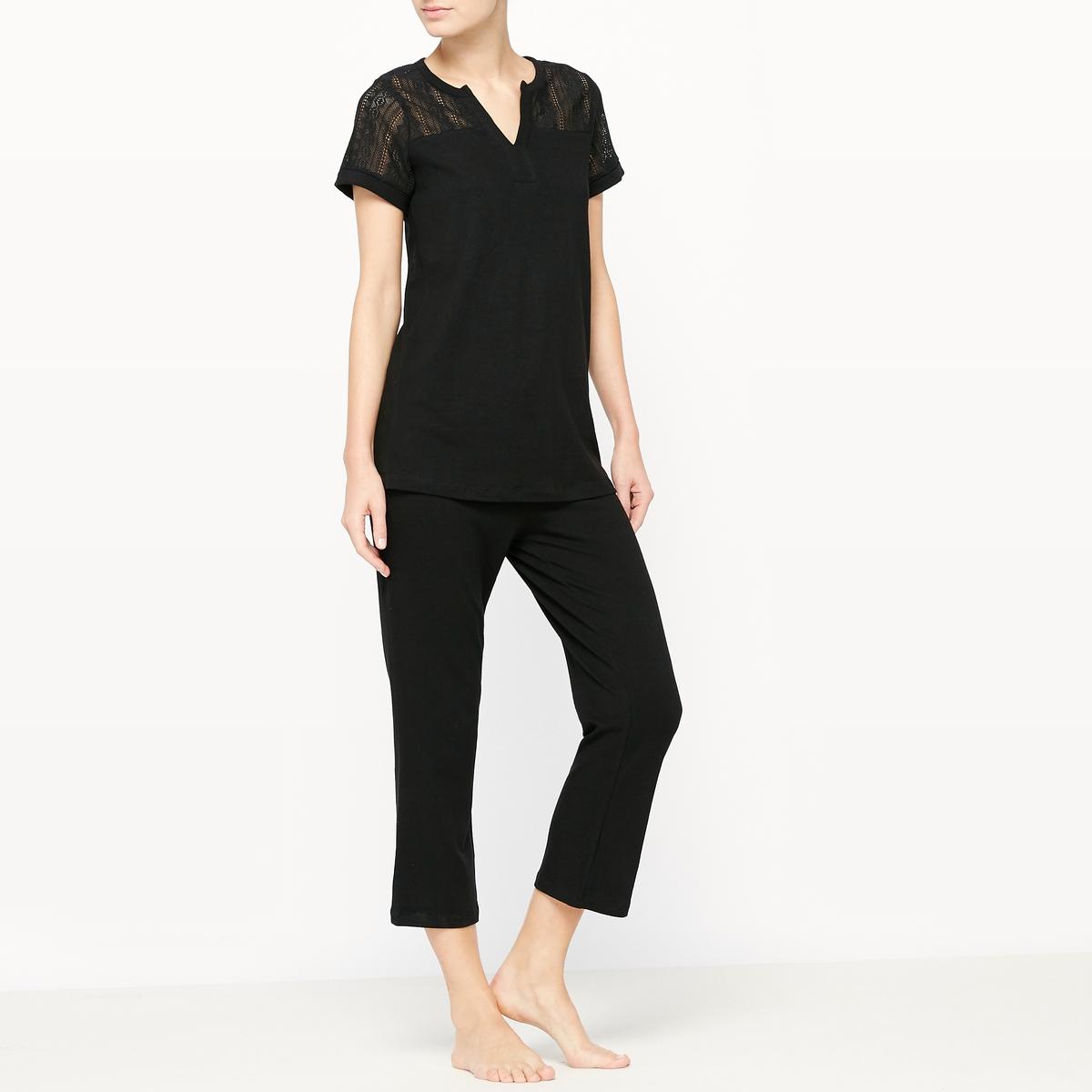 Пижама с короткими брюками