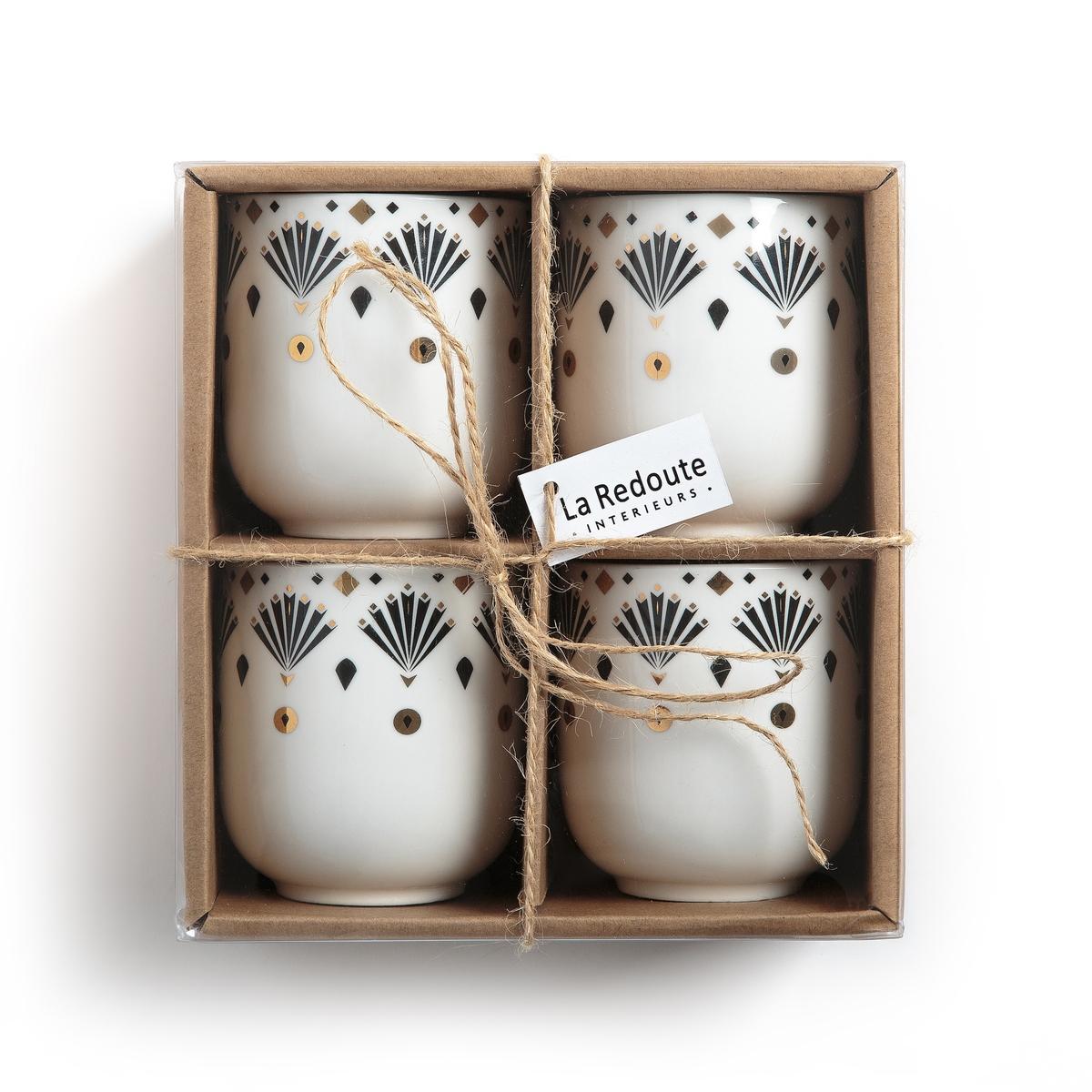 Комплект из 4 фарфоровых чашек для эспрессо, MELLAH