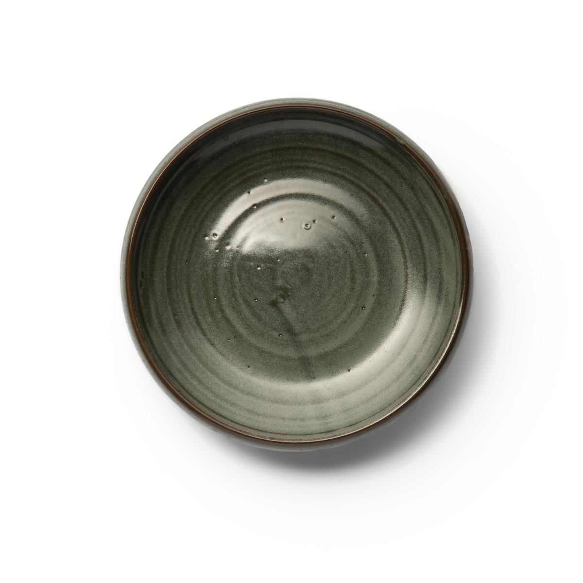 Глубокие La Redoute Тарелки из глазурованной керамики Akira единый размер зеленый плоские la redoute тарелки из эмалированной керамики attale единый размер каштановый