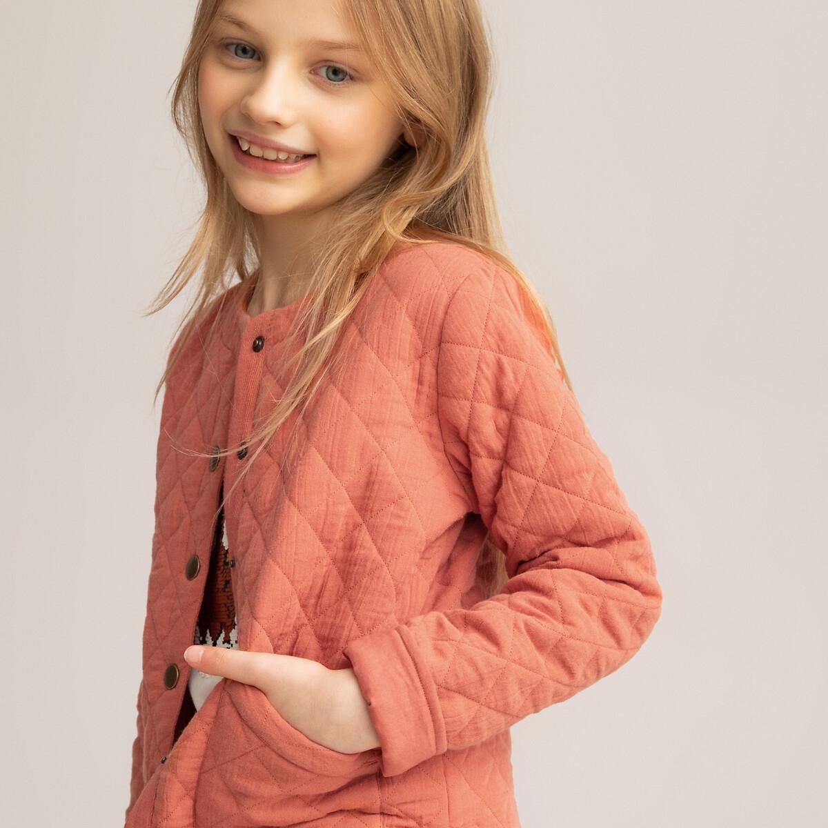 Фото - Куртка LaRedoute Из хлопчатобумажной газовой ткани 3-12 лет 10 лет - 138 см розовый платье laredoute с короткими рукавами из хлопчатобумажной газовой ткани 3 12 лет 3 года 94 см розовый