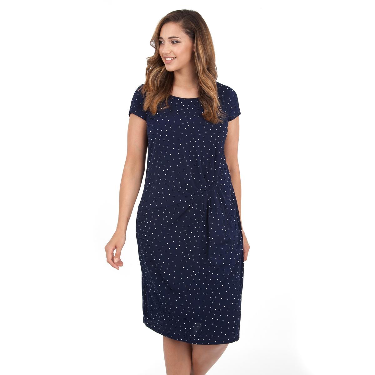 ПлатьеПлатье с короткими рукавами - LOVEDROBE. Круглый вырез. Длина ок.104 см. 100% полиэстера.<br><br>Цвет: синий наб. рисунок<br>Размер: 58/60 (FR) - 64/66 (RUS)