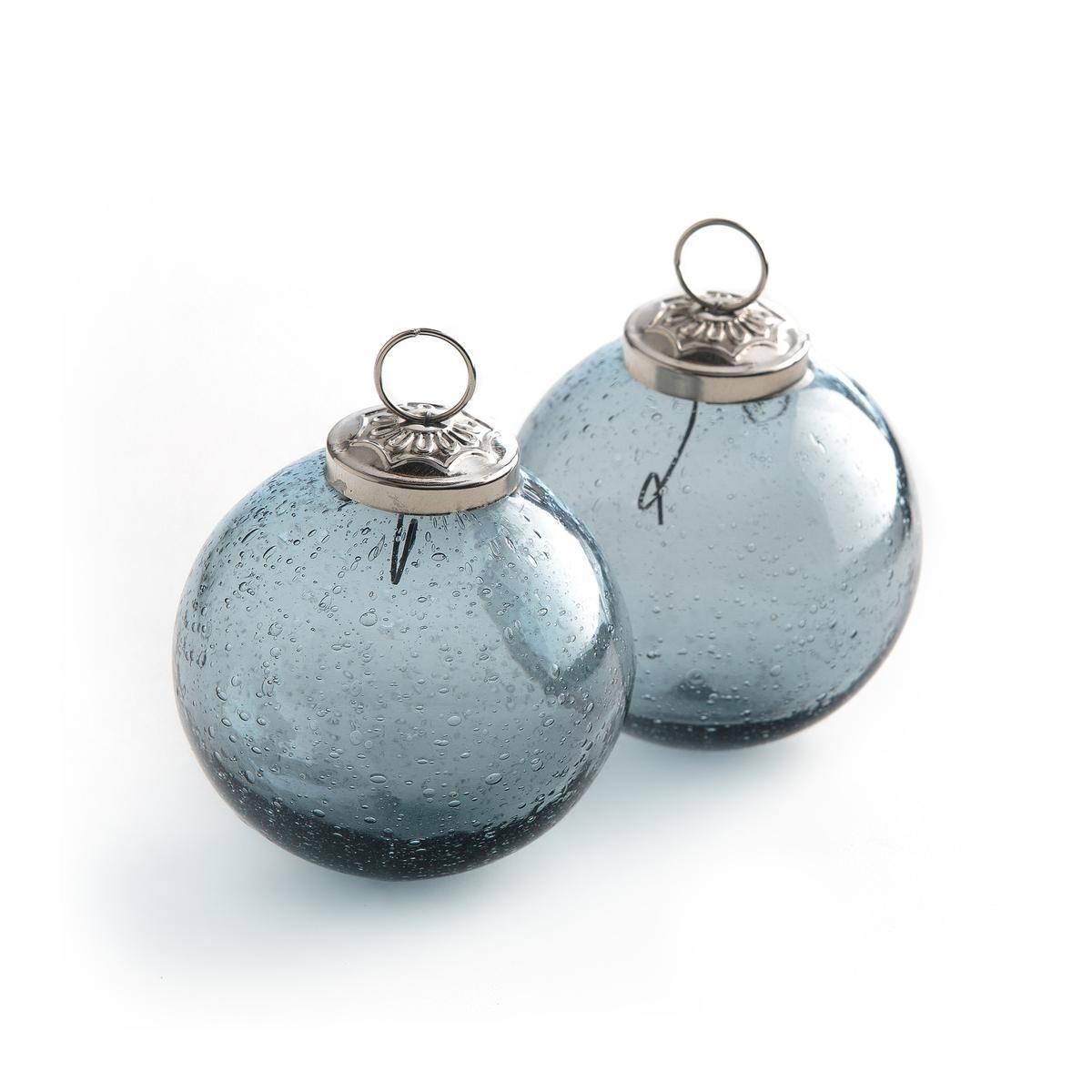 2 елочных шара из стекла Edinia ?7,5 смОписание:2 елочных шара из стекла Edinia. Шары выполнены из дутого стекла с пузырьками, они придадут вашей ели изысканности.<br><br>Цвет: зеленый,синий индиго<br>Размер: единый размер