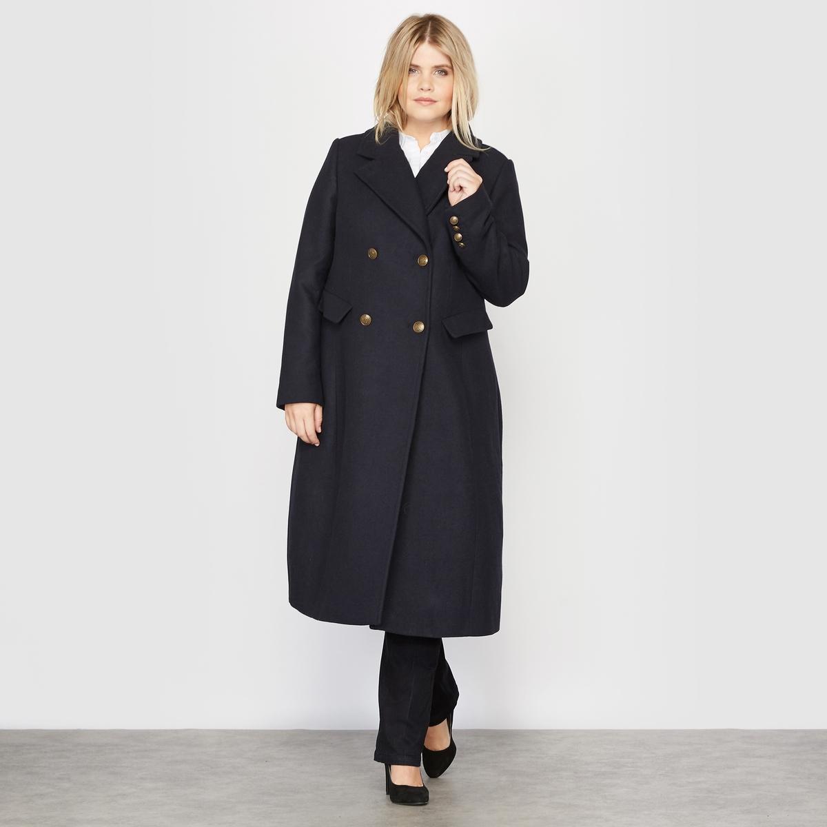 Пальто-шинель из шерстяного драпа
