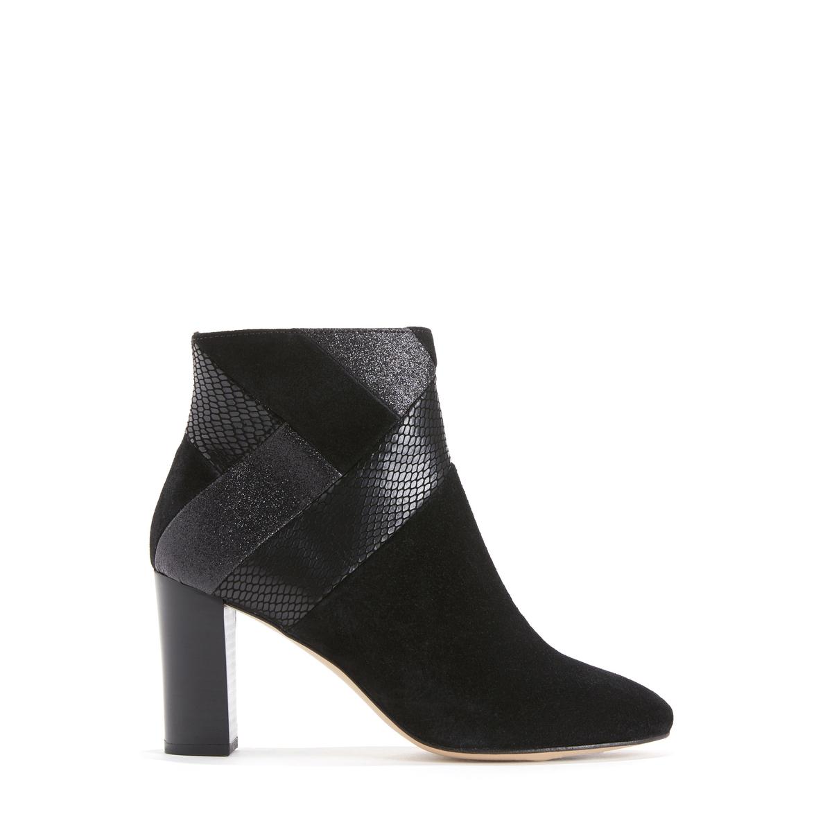 Ботильоны кожаные на высоком каблуке BURENNE цены онлайн