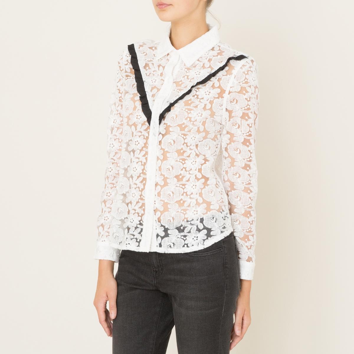 Рубашка кружевнаяСостав и описание    Материал : 100% хлопокМарка : SISTER JANE<br><br>Цвет: слоновая кость