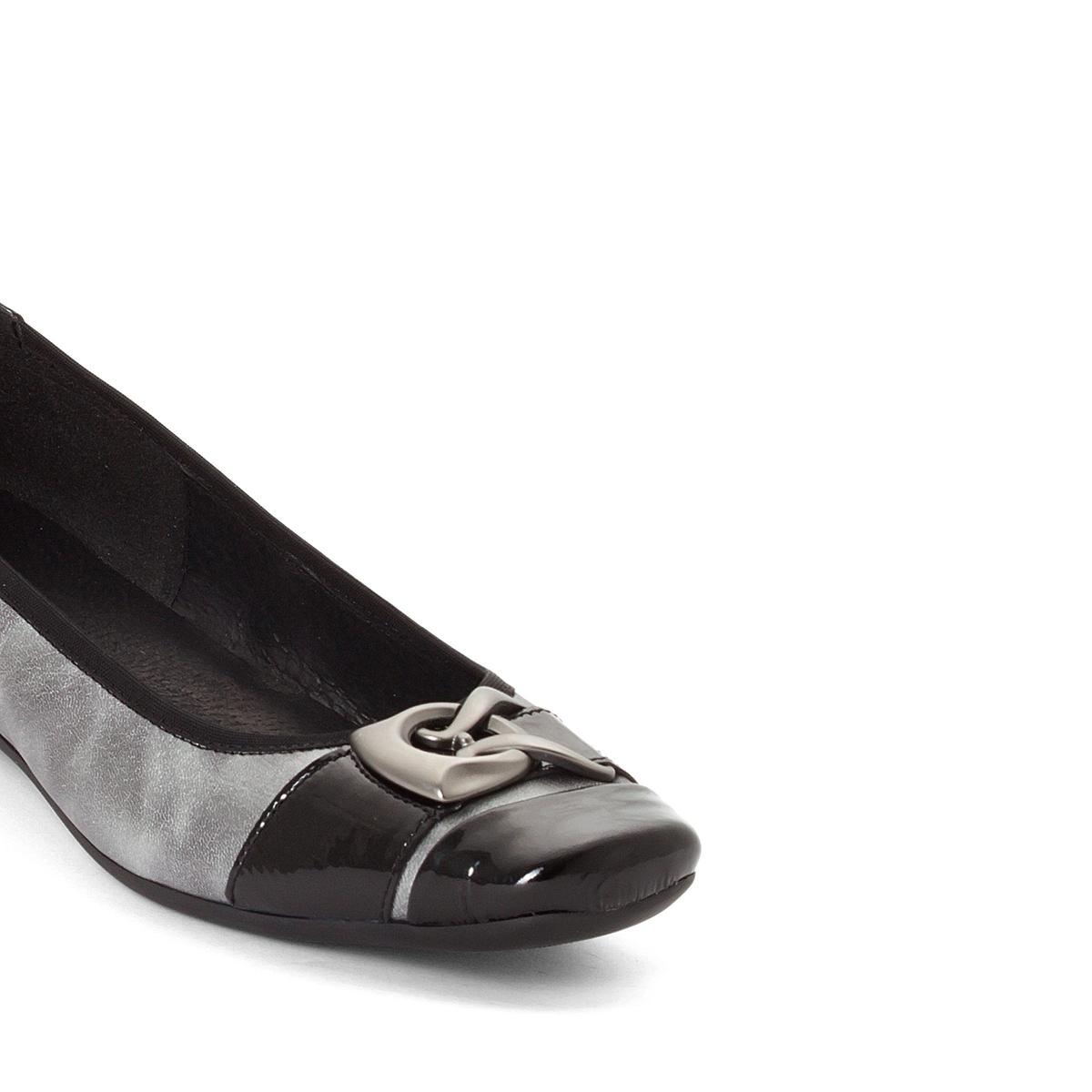 Imagen secundaria de producto de Bailarinas de piel bicolor, con tacón de cuña - Anne weyburn