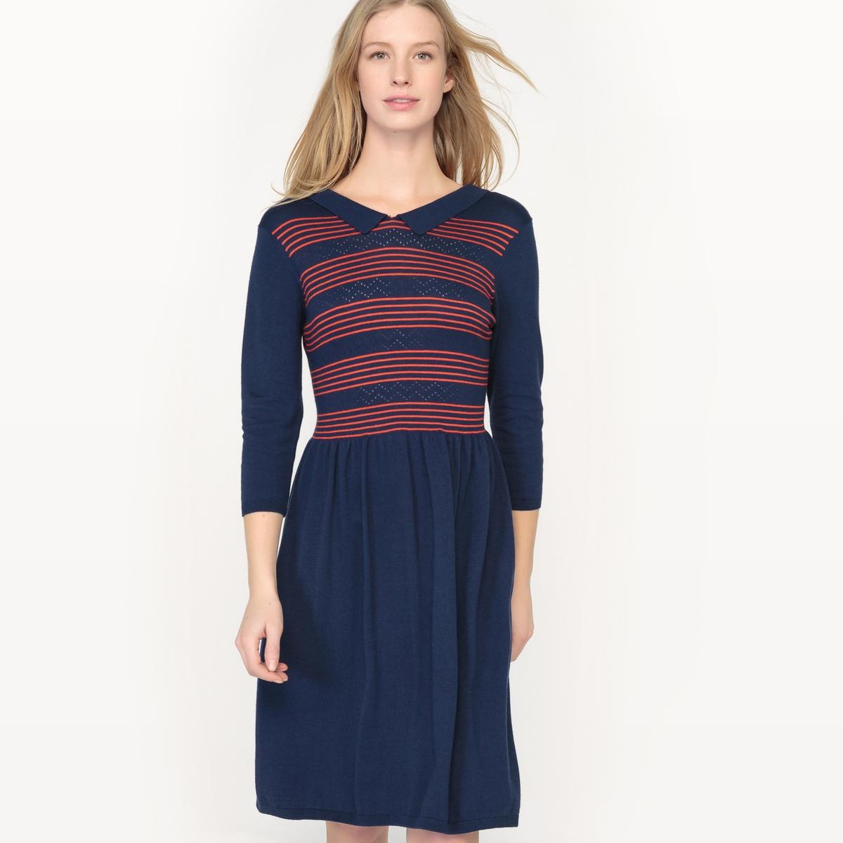 Платье с рукавами 3/4 из трикотажа