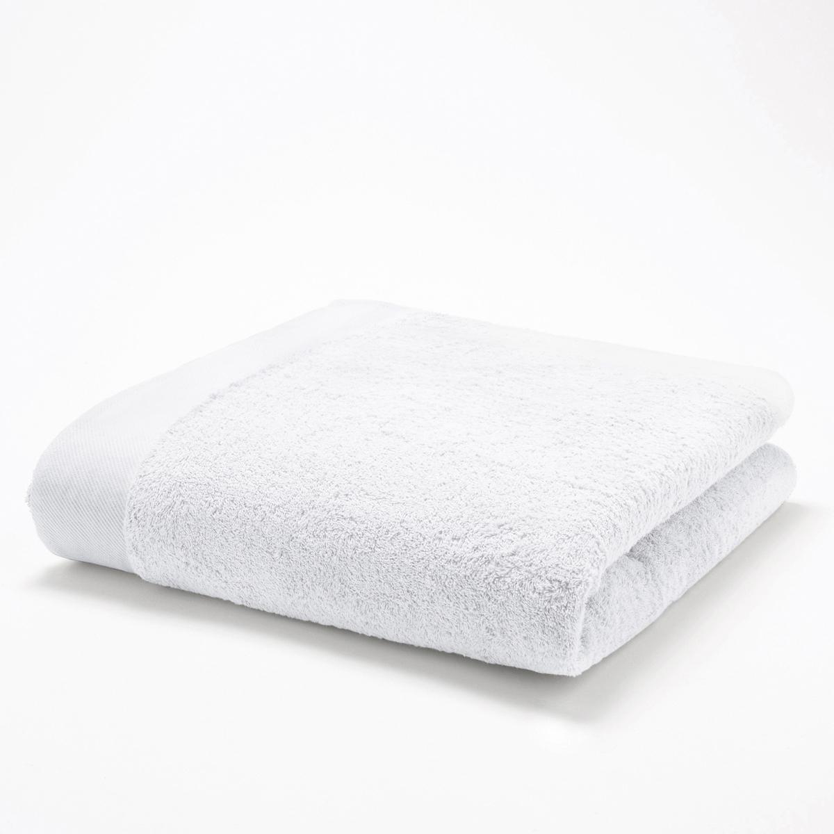 Полотенце банноеМягкая махровая ткань, 100% хлопка, 500 г/м2. Кайма диагональ. Стирка при 60°. 70 х 140 см.<br><br>Цвет: белый,зеленый  атолл,серо-синий<br>Размер: 70 x 140 см