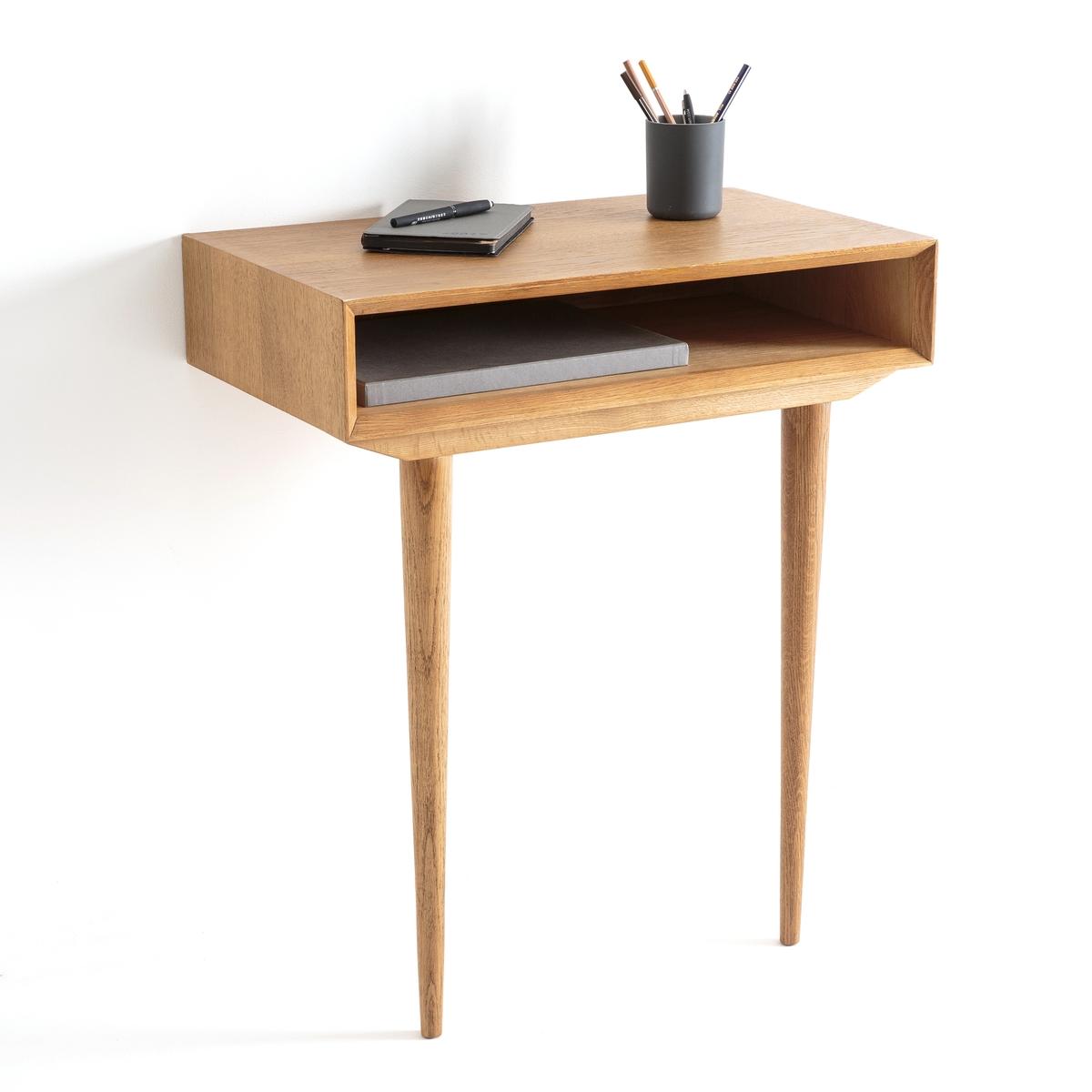 Стол-консоль пристенный, QUILDAПристенный стол-консоль Quilda. Компактный стол-консоль Quilda великолепного дизайна в стиле 60-х годов добавит нотку элегантности интерьеру Вашей спальни, прихожей или гостиной. Может использоваться в качестве вспомогательного столика или, если добавить зеркало, в качестве туалетного.Характеристики стола-консоли Quilda :Ножки из массива дуба, ящик из дубовой МДФ с лаковым нитроцеллюлозным покрытием. Фиксируется на стене.Откройте для себя всю коллекцию Quilda на сайте laredoute.ruРазмеры стола-консоли Quilda :Общие Длина : 65 смВысота : 76 смГлубина : 38 смРазмеры и вес упаковки:1 упаковка74 x 47 x 24,5 см13 кг Доставка :Стол-консоль Quilda поставляется в разобранном виде. Возможна доставка до квартиры по предварительной договоренности   !Внимание ! Убедитесь, что дверные, лестничные и лифтовые проемы позволяют осуществить доставку коробки таких габаритов.<br><br>Цвет: дуб
