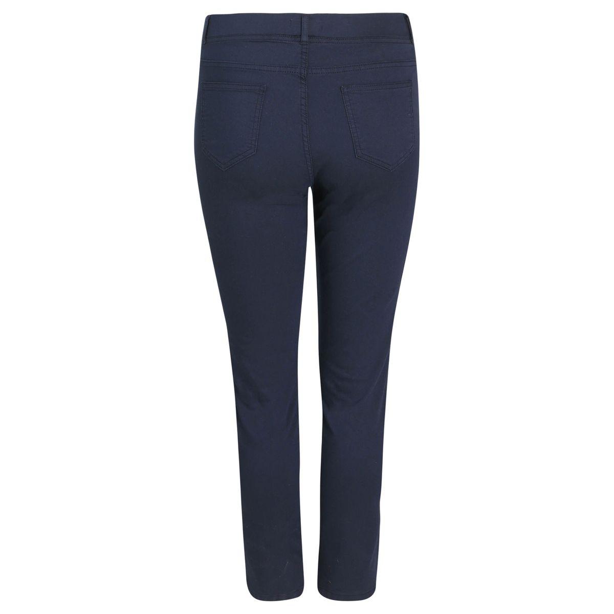 Pantalon en lin taille élastiquée