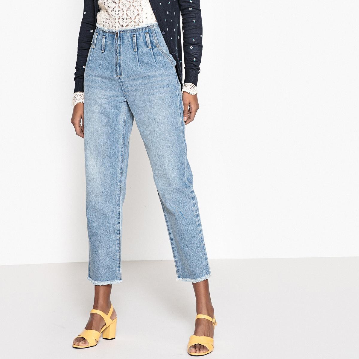 Jeans Mom rawcut alla cintura e al fondo delle gambe