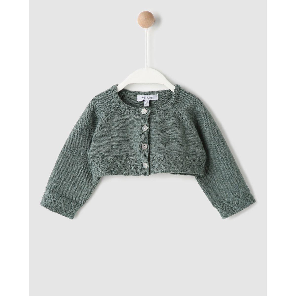 Veste  en tricot foncé