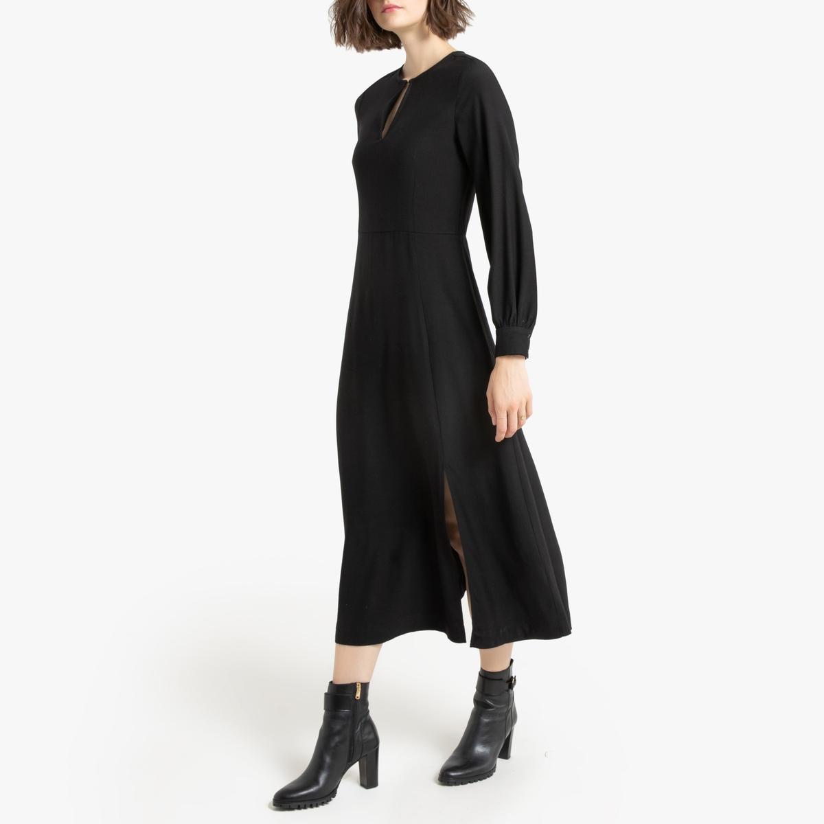 Платье La Redoute Макси с длинными рукавами 36 (FR) - 42 (RUS) черный платье la redoute радужное estelle 36 fr 42 rus черный