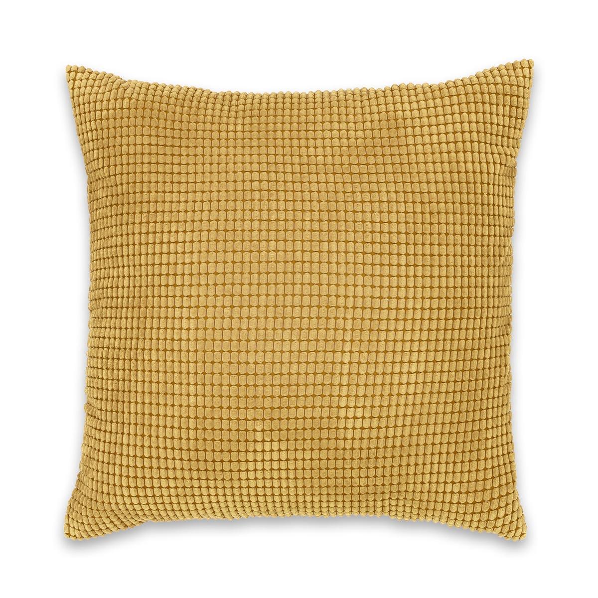 Чехол La Redoute Для подушки рельефный FLUFFY 65 x 65 см желтый чехол la redoute для подушки или наволочка однотонного цвета с помпонами riad 65 x 65 см розовый