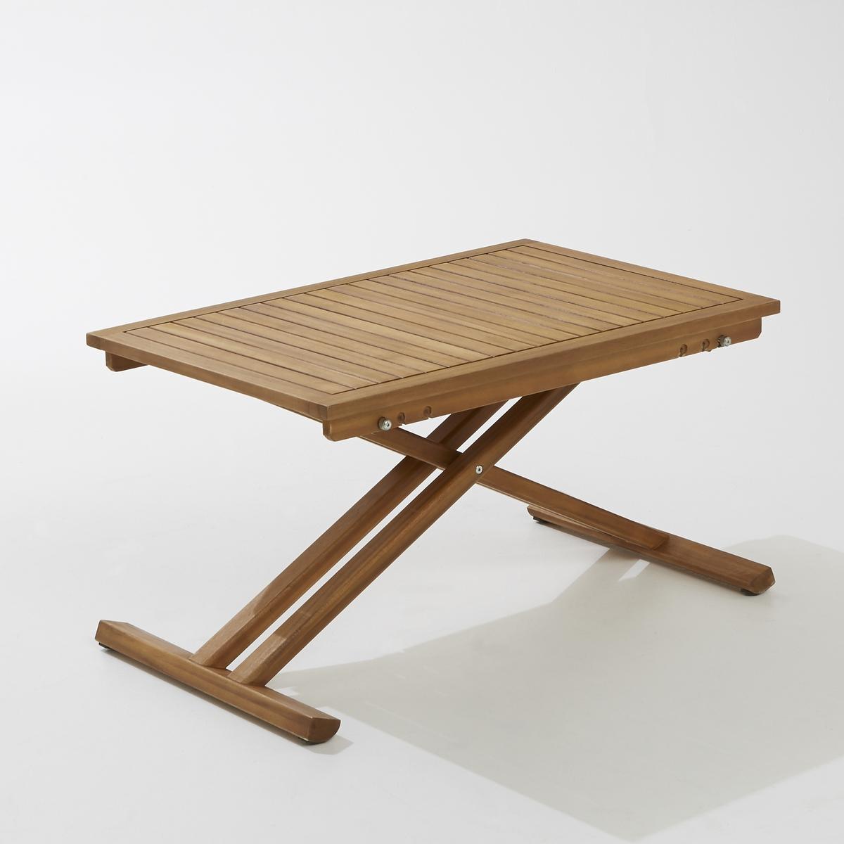 Стол садовый складной из акации, TekoЭтот стол идеально подходит для размещения в саду! Простой и практичный, он удобен в любой ситуации. Складная конструкция позволяет выбрать одно из 3 возможных положений регулировки.Описание складного садового стола Teko:складная конструкция и регулировка положения (3 варианта).Характеристики складного садового стола Teko:Рассчитан на 4 персоны.Прямоугольная форма.Выполнен из древесины акации (происхождение древесины контролируется).Тонировка тиковое дерево.Возможность регулировки, 3 положения высоты.Размеры складного садового стола Teko:Длина: 90 см.Ширина: 60 см.Высота: 50/63/75 см.Размеры и вес коробки:1 коробкаД. 99 x В. 14 x Г. 62,5 см, 11,5 кгДоставка:Данная модель стола требует самостоятельной сборки. Доставка осуществляется до квартиры!Внимание! Внимание! Убедитесь в том, что посылку возможно доставить на дом, учитывая ее габариты (двери, лестницы, лифты)..<br><br>Цвет: акация