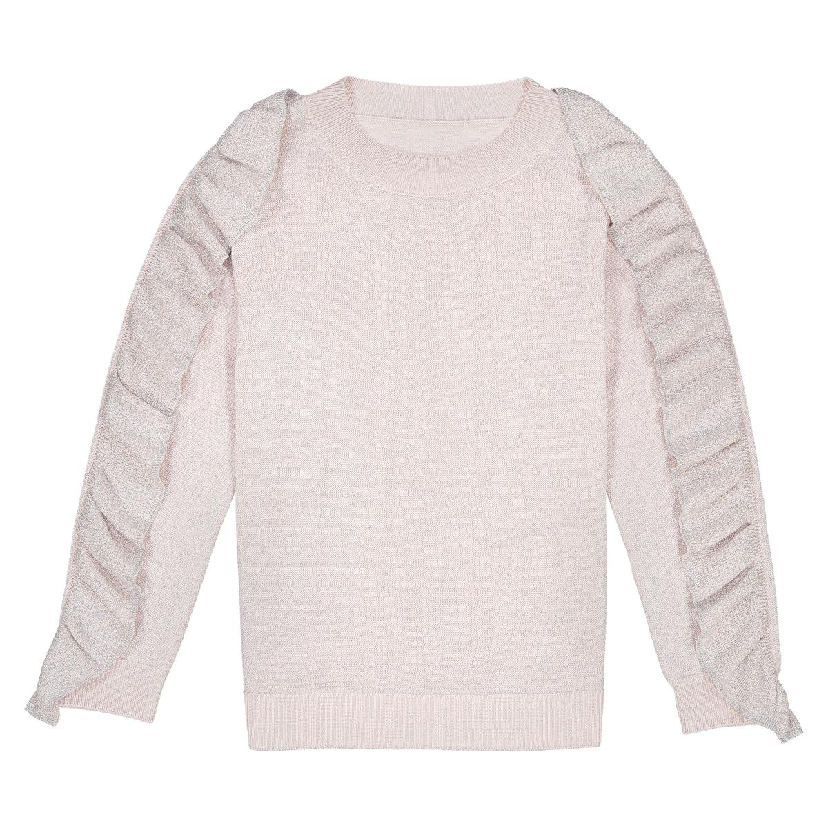 Пуловер La Redoute Из тонкого блестящего трикотажа 10 лет - 138 см розовый наволочка la redoute из хлопковой перкали aricha 50 x 70 см розовый