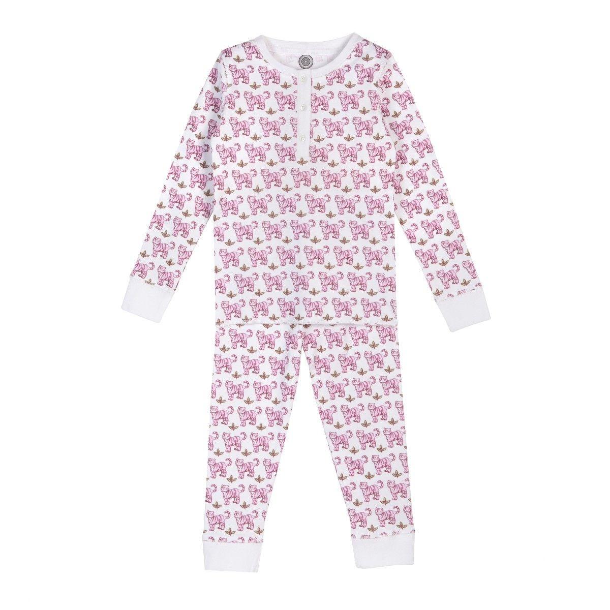 Pyjama fille en coton bio - Imprimé Tigre