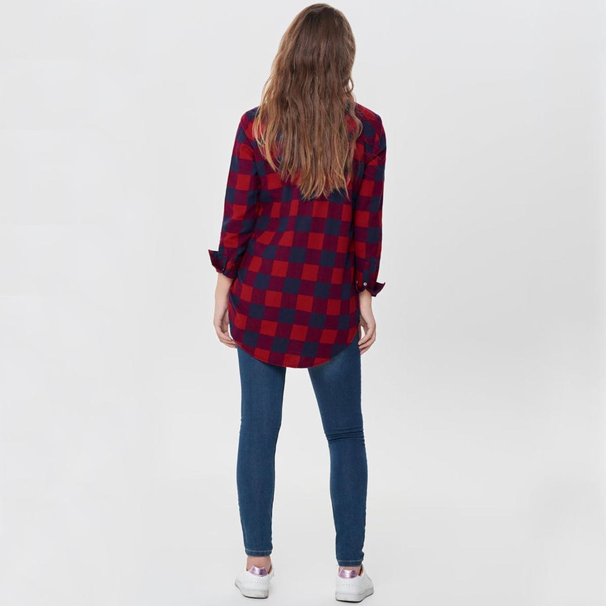 Рубашка в клетку с длинными рукавами рубашка в клетку rip curl faded check shirt indian teal