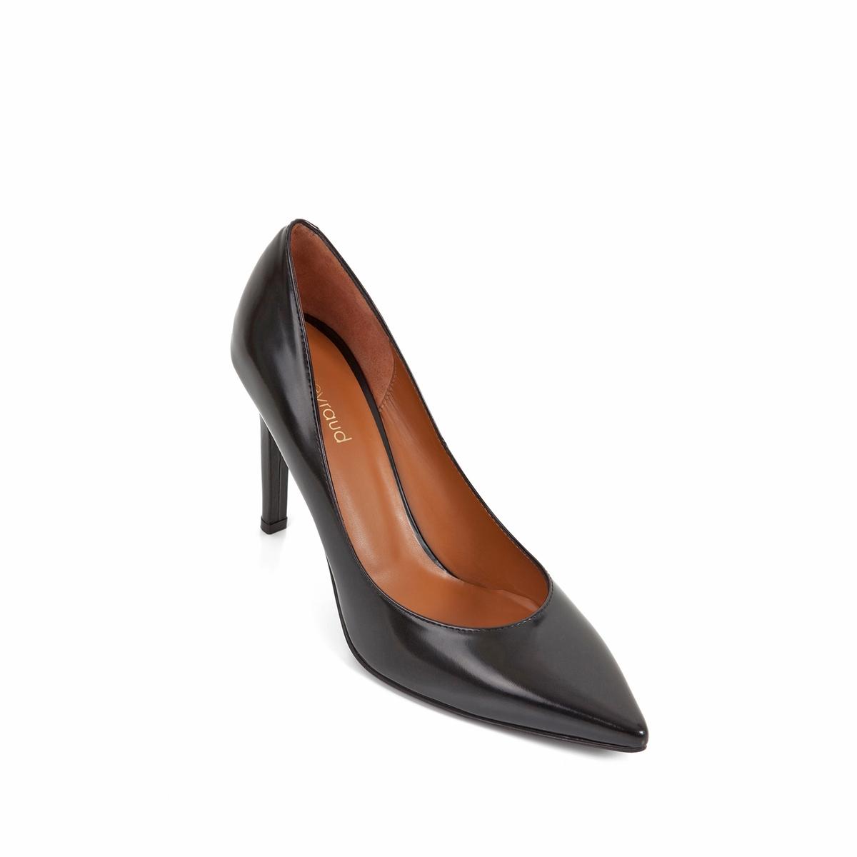 Туфли кожаные Delicia на шпилькеВерх : Кожа.   Подкладка : Кожа.   Стелька : Кожа.   Подошва : Кожа.   Высота каблука : 9 см   Форма каблука : шпилька   Мысок : заостренный мысок     Застежка : без застежки<br><br>Цвет: черный