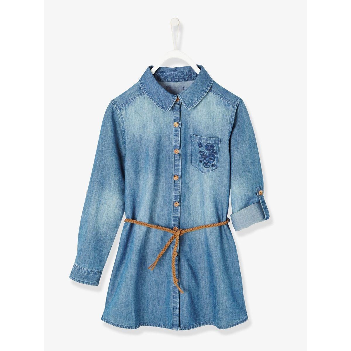 Robe fille en jean